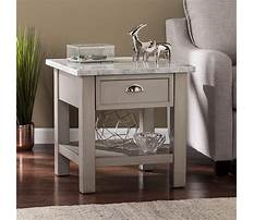 Gray faux marble coffee and end tables Video