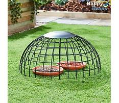 Ground bird feeder cage Video
