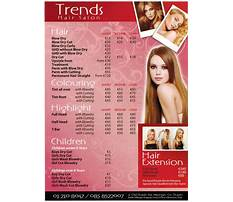 Hairdresser prices Video