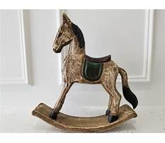 Hand carved miniature rocking horse Video