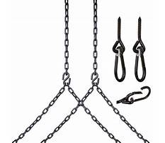 Hang a porch swing with chains Video