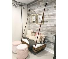 Hanging bench diy Video