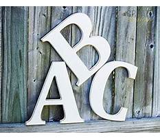 Hanging wooden letters Video