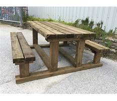 Heavy duty wooden picnic table plans Video