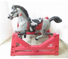 Hedstrom spring rocking horse parts Video