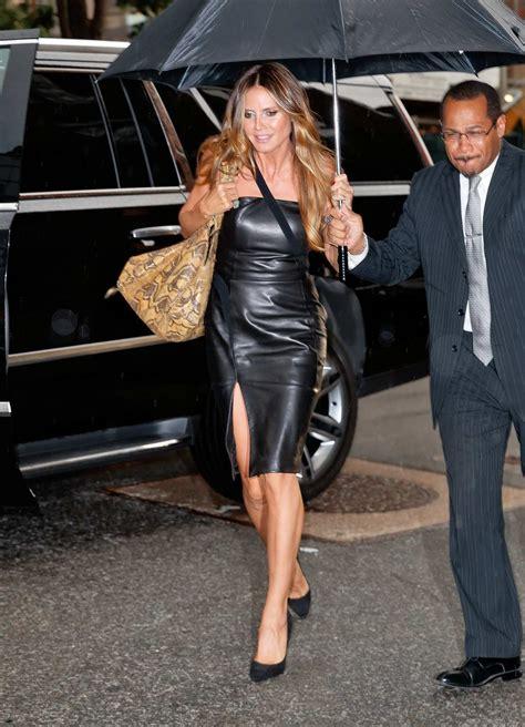 Heidi Klum Leather Dress Black