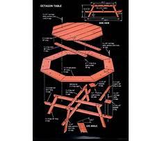 Hexagon garden table plans Video