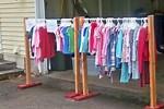 Homemade Clothes Hanger for Garage