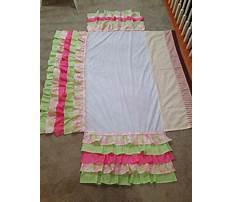 Homemade ruffle crib skirt Video