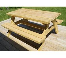 Homemade wooden picnic table plans Video