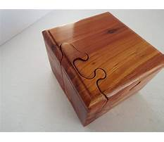 Homemade wooden puzzle box Video