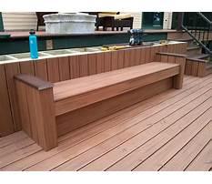 How do i build a deck bench Video