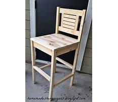 How do i make a bar stool Video