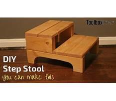How do you make a step stool Video