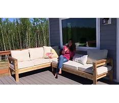 How to build a 2x4 outdoor sectional tutorial Video