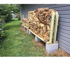 How to build a cheap firewood rack Video
