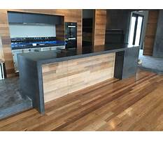 How to build a concrete benchtop Video