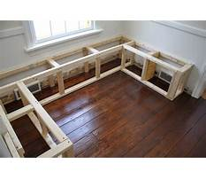 How to build a corner bench with storage Video
