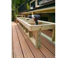 How to build a deck bench seat with back Video