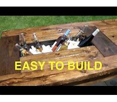 How to build a farmhouse table with built in coolers complete and easy plan Video