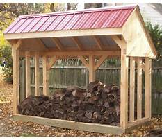 How to build a firewood shed by yourself Video