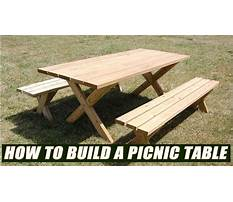 How to build a picnic table bench Video