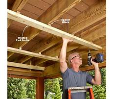 How to build a porch roof Video