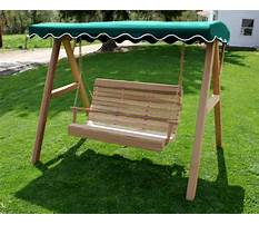 How to build a porch swing canopy frame Video