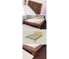 How to build a queen size platform bed with headboard Video