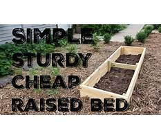 How to build a raised bed garden box cheap Video