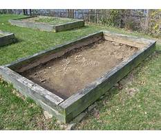 How to build a raised bed garden railroad Video