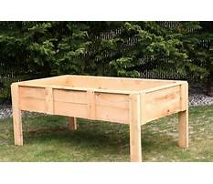 How to build a raised bed garden with legs Video