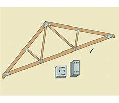 How to build a simple wood truss Video