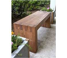How to build a small wood bench Video