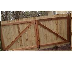How to build a tall wooden gate Video