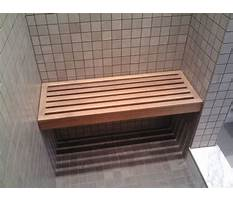 How to build a wood frame shower bench Video