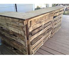 How to build a wood pallet bar Video