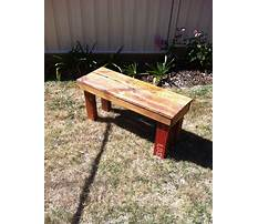 How to build a wood pallet bench seat Video