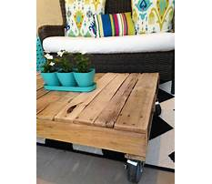 How to build a wood pallet coffee table Video