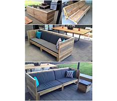 How to build a wood pallet couch Video