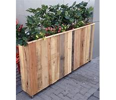 How to build a wood pallet flower box Video