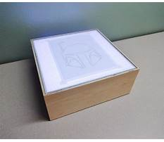 How to build a wooden light box Video