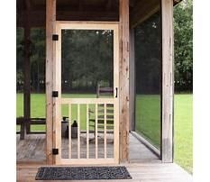 How to build a wooden screen door Video