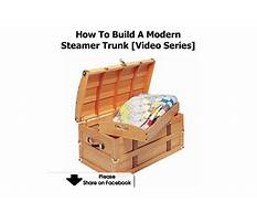 How to build a wooden steamer trunk Video