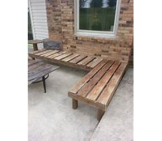 How to build an outdoor corner bench with storage Video