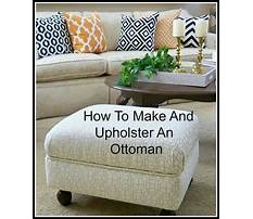 How to build an upholstered footstool Video