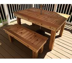 How to build bench for dining table Video