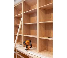 How to build bookshelves on a wall Video