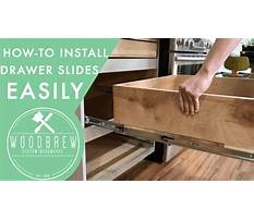 How to build kitchen cabinets install drawer slides Video