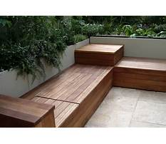 How to build outdoor wooden storage bench Video